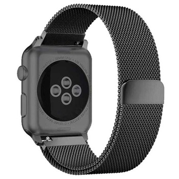 Milanese Loop band For Apple Watch Strap 44mm 40mm iWatch band 42mm 38 mm Stainless steel watchband bracelet Apple watch 5 4 3 2 bumvor for apple watch band 38 42mm black gold stainless steel bracelet buckle strap clip adapter for apple iwatch