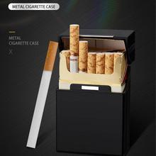 Ультратонкий Модный чехол для сигарет, тонкая металлическая коробка, алюминиевая Подарочная коробка, держатель для хранения мини сигарет, ...