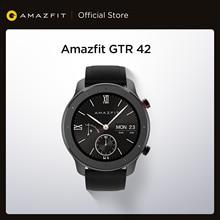 Em estoque versão global novo amazfit gtr 42mm relógio inteligente 5atm relógios femininos 12 dias bateria controle de música para android ios