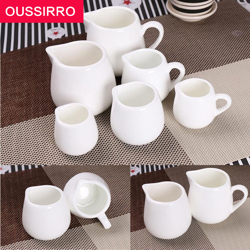 1 PCS Hotel Supplies Pure White Ceramic No Milk Sauce Bucket Tea cup office drinking cup travel tea set White coffee cup bottle