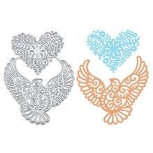 YaMinSanNiO Heart Shape Flower Metal Cutting Dies Birds DIY Etched Die Crafts Paper Card Making Scrapbooking Embossing New 2019