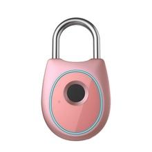Bloqueo de huella digital inteligente portátil cerradura de puerta biométrica eléctrica USB recargable IP65 impermeable bolsa de puerta de casa cerradura de equipaje