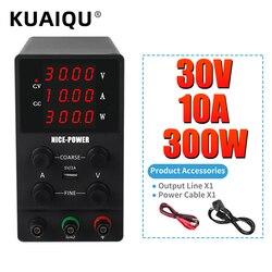 Блок питания K3010D, компактный цифровой источник питания постоянного тока со светодиодным дисплеем для ремонта ноутбуков, 30 В, 10 А, 110-220 В