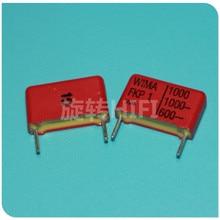20 шт. RED WIMA FKP1 102 0,001 мкФ 1000V PCM15 аудио 102/1000V Горячая Распродажа FKP-1 1000PF 1KV p5mm 1000pF/1000V 1nF