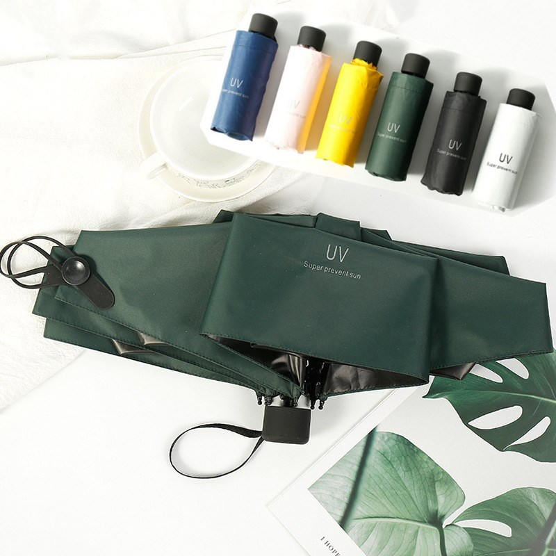 Small Fashion Folding Umbrella Rain Women Gift Men Mini Pocket Parasol Girls Anti-UV Waterproof Portable Travel UMBRELLAS