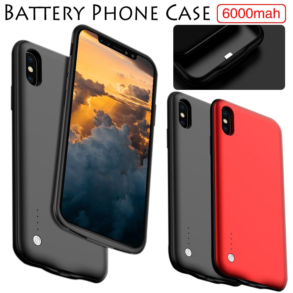Ultra-thin Phone Cases Covers Built-in 6000MAH Battery Power Bank For IPhone X XRS XMAX 7 8 Phone Cases