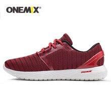 ONEMIX-zapatos de correr para hombre y mujer, mocasines de malla roja transpirables de diseñador, zapatillas para correr, deporte al aire libre, zapatillas para caminar