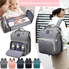 Moms Dads Multifunctional Diaper Bag Bed Backpack Baby Bed Cribs Bags Mummy Travel Maternity Nursing Handbag For Stroller