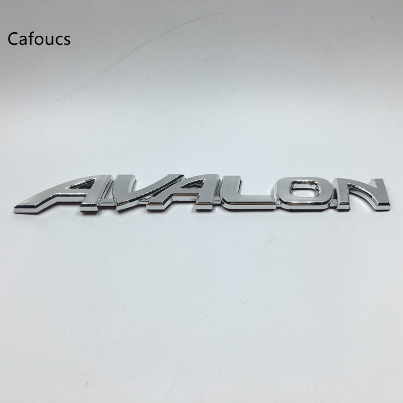 For Toyota AVALON Car Rear Emblem Badge Chrome Logo Letters Chrome Stickers