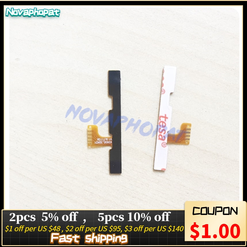 Novaphopat Power On/off Volume Switch Flex For BQ BQ-5035 Velvet BQ 5035 BQS 5035 Side Button Volume Key Flex Cable Board