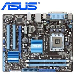LGA 775 ASUS P5G41T-M LX V2 Motherboard DDR3 8GB G41 P5G41T-M LX V2 Desktop Systemboard Mainboard PCI-E X16 VGA P5G41T Used
