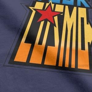 Image 3 - Saint Seiya Brennen Ihre Cosmo T Shirt Männer Ritter von die Sternzeichen Anime Lustige Baumwolle T Shirt Crew Neck T Shirts gedruckt Kleidung