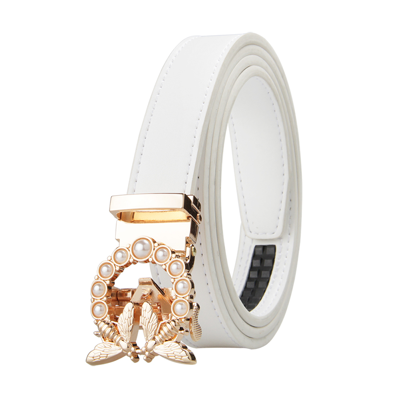 New Fashion Women's   Belts   Genuine Leather Designer High Quality   Belt   Women Luxury Straps for Woman White Automatic Buckle   Belts