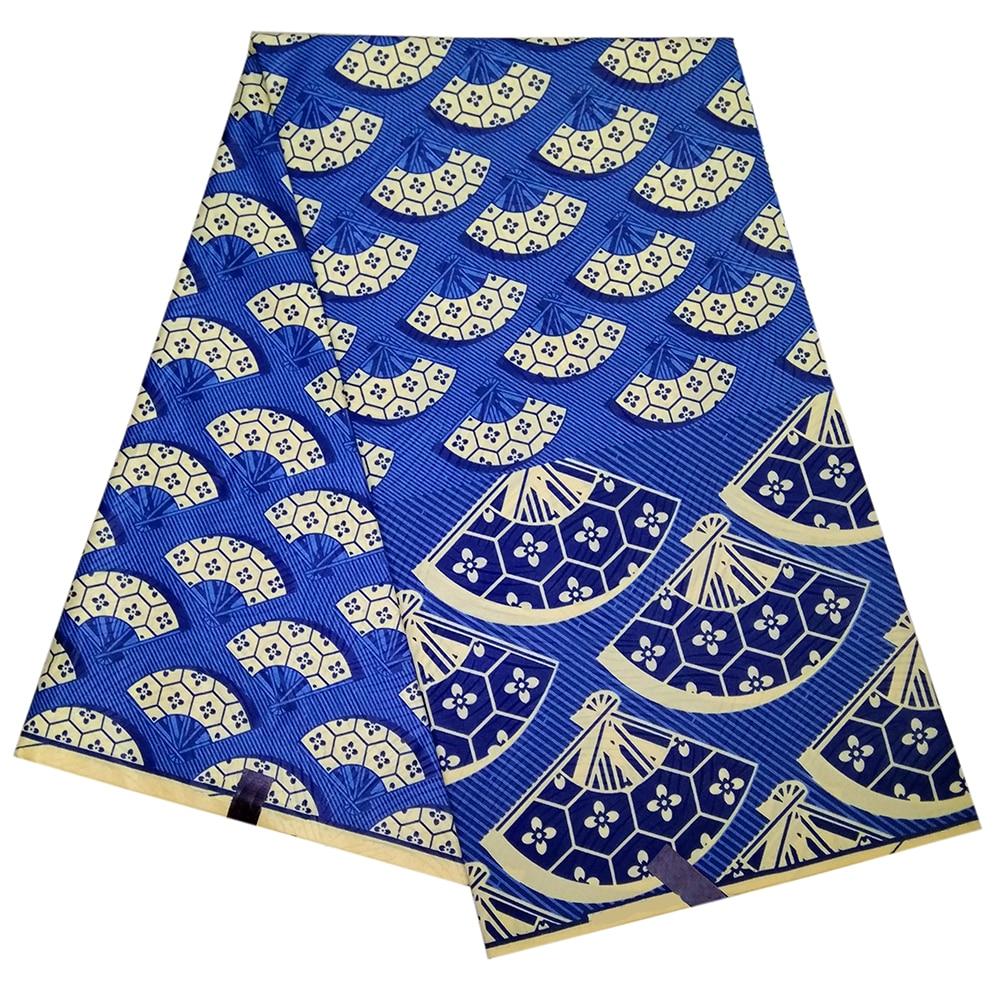 2019 New Ankara African Wax Print Fabric Polyester Print Fabric 6 Yards African Dutch Wax