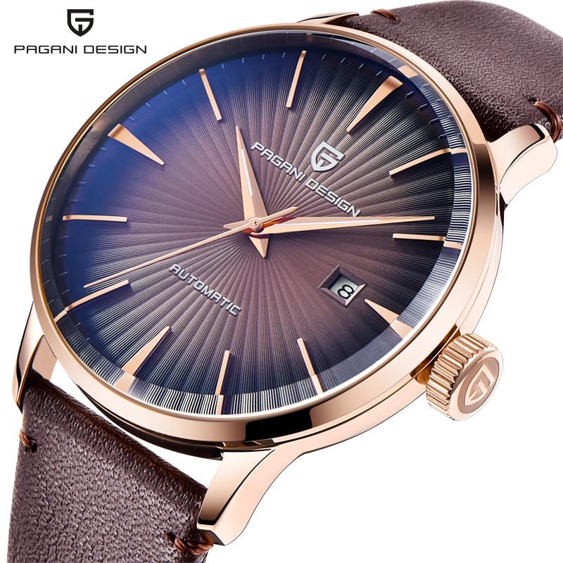 Relógios de Pulso Pagani Design Automático Relógio Masculino Azul Relógios Mecânicos Aço Inoxidável Data Automática 3atm