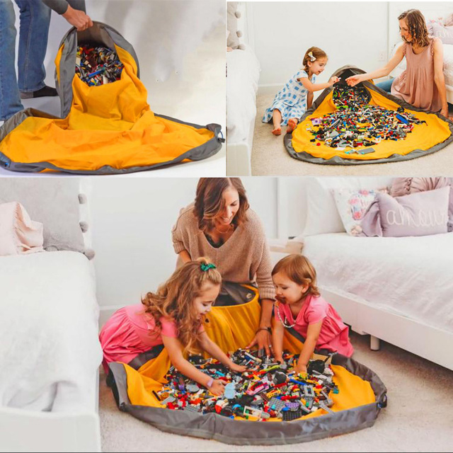 Infantil New Portable Kids Toy Storage Bag and Play Mat Toys Organizer Baby Climbing Pad Kids Rug Baby Games Mats