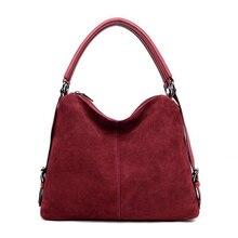 Femmes en cuir véritable daim Hobo Sac nouveau Design femme loisirs grands sacs à bandoulière Shopping Sac à main décontracté Sac à main