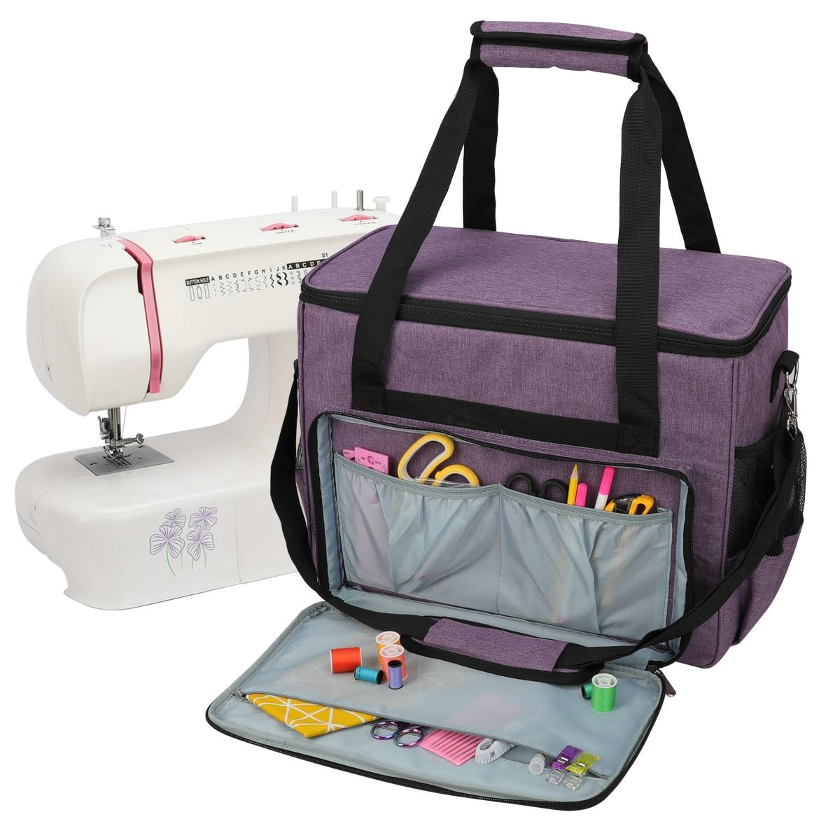 Knitting Bag Large Capacity Sewing Machine Storage Bag Wool Crochet Hook Knitting Needle Sewing Supplies Set Household Organizer