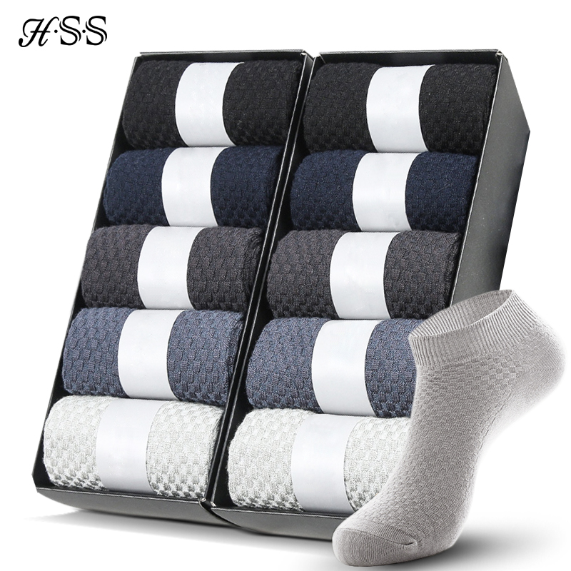 10 Pairs Bamboo Fiber Men Socks Short Ankle Business Black Male Meias Socks Summer Breathable Men Dress Shoes Clothes Size 38-43