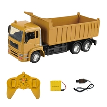 10CH RC Dump Truck 2.4HZ Remote Control Hydraulic Dump Engineering Vehicle Electric Loader Gift Transporter for Kids double acting hydraulic pump 12v dump trailer 3 quart plastic reservoir for dump trailer
