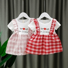 Baby Girls Clothes Summer Baby Dress Frill Sleeve Newborn Infant Dresses Cotton Short Sleeve Toddler Dresses pearl detail layered frill sleeve top