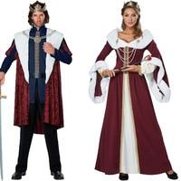Royal Red Velvet Queen King Deluxe Cape Cloak Fancy Dress Costume 120cm Carnival Cosplay