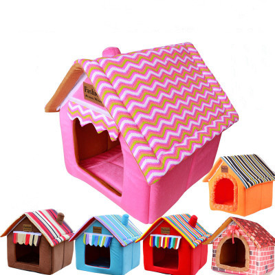 Pet House Teddy Small Medium Dog Large Dog Supplies Dog House Cat Litter Removable Washable Pet Bed for Yorkshire Terrier