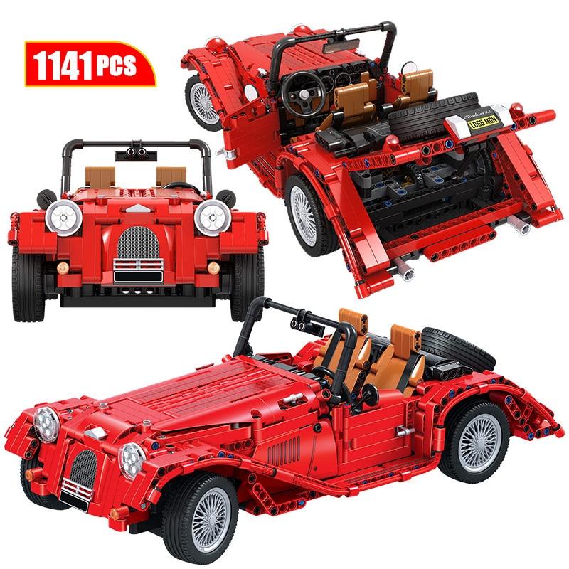 Cidade do vencedor três rodas clássico carros caminhão blocos de construção técnica modelo conversível carro tijolos brinquedos para crianças