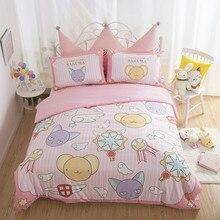 Cardcaptor Sakura Kero хлопковые плюшевые детские милые Мультяшные простыни, пододеяльник, наволочка, украшение для спальни, игрушка