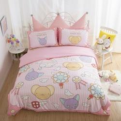 Karte Captor Sakura Kero Gedruckt Baumwolle Plüsch Kinder Schöne Cartoon Bettwäsche Quilt Abdeckung Kissen Schlafzimmer Dekoration Spielzeug