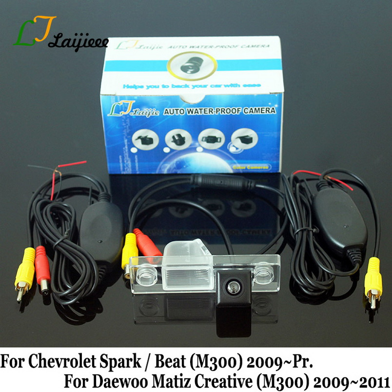 Pour Chevy Chevrolet Spark Beat M300 2009 2010 2011 2012 2013 2014 2015 2016 2017 2018 2019 caméra de recul arrière de voiture/HD Vision nocturne Auto caméra de recul sans fil pour Daewoo Matiz Creative 2009 ~ 2011