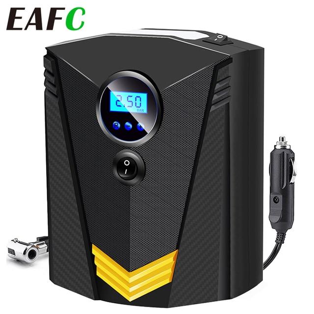 EAFC Car Portable Air Compressor Pump 150 PSI Digital Tire Inflator DC 12 Volt Auto Aire Pump for Car Motorcycle LED Light