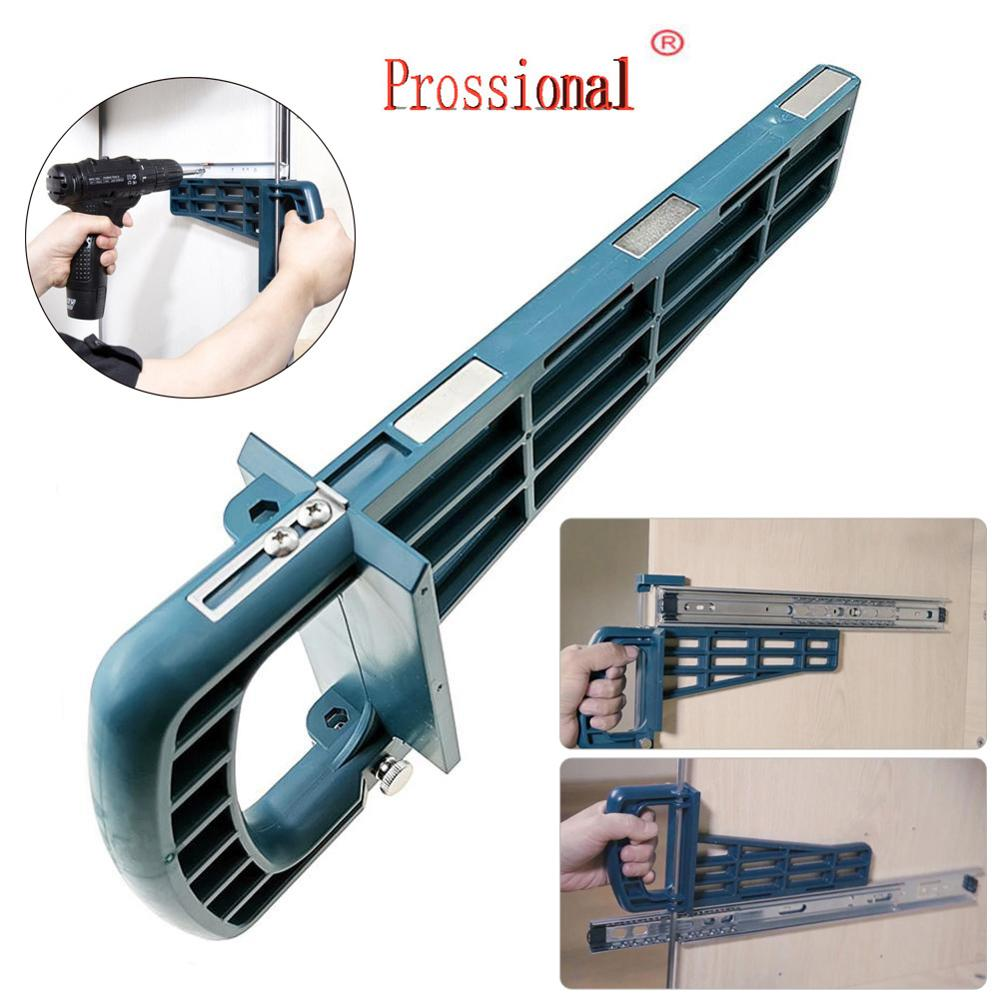 Новый набор магнитных направляющих для выдвижных ящиков, монтажный инструмент для шкафа, мебельная Удлиняющая фурнитура для шкафа, направляющая для установки по дереву|Наборы ручных инструментов|   | АлиЭкспресс