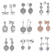 Dazzling Poetic Droplets Abstract Elegance 925 Sterling Silver Hanging Earrings For Women