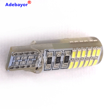 100pcs T10 W5W Silicone Case 24 SMD 3014 LED Car Reading Light 192 168 501 24SMD 24 LED Auto Wedge Bulb Parking Lamps 12V 100X