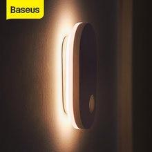 Baseus PIR Motion Sensor lampka nocna indukcja człowieka podświetlenie magnetyczne światło LED akumulator lampka nocna kinkiet do domu