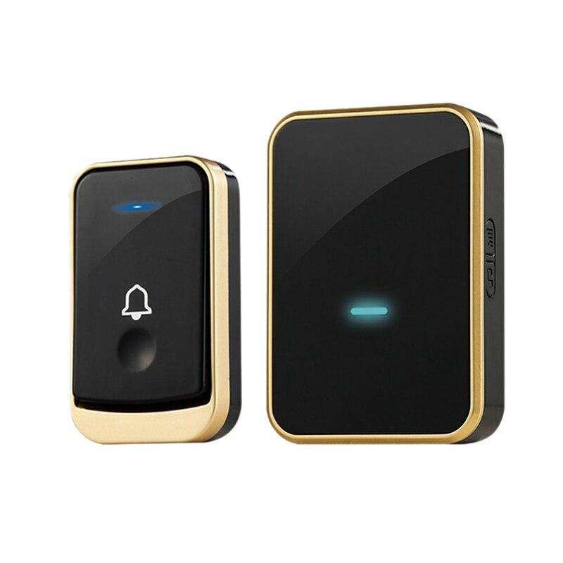 AMS-Wireless Doorbell Digital Music Doorbell Wireless Home Remote Control Doorbell Smart Doorbell Doorbell (US PLUG)
