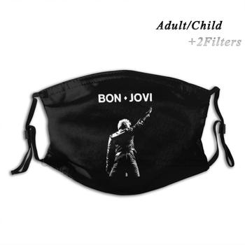 Jon Washable Reusable Trendy Mouth Face Mask With Filters For Child Adult Punk Metal Metalhead Headbanger Punx Hardcore image