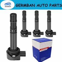 4pcs/lOT 30520 RNA A01 099700 101 New Ignition Coils For Honda Civic 2006 2011 1.8L UF582 C1580 UF 582 30520 RNA A01 30520RNAA01