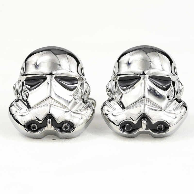 Plata Plateado Par De Gemelos De Star Wars Storm Trooper Traje de patrón Bolsa De Regalo