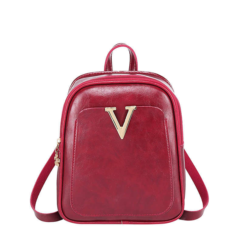 Vento Marea Mini Backpack For Teenage Girls 2019 Fashion Women Shoulder Bag Multi-Function Small Bag Pack Female Red Phone Purse