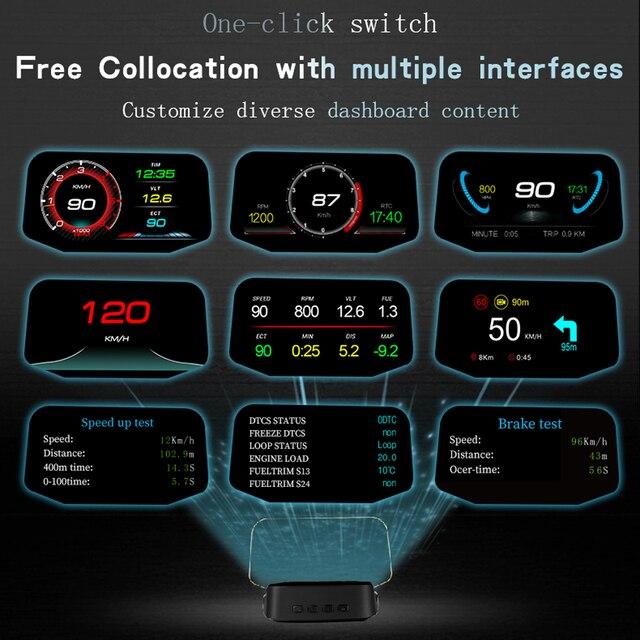автомобильный hud дисплей gps навигация obd2 дисплей на голову фотография