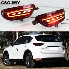 2Pcs Für Mazda CX 5 CX5 2017   2020 LED Hinten Reflektor Rücklicht Nebel Lampe Hinten Bumper Licht Bremsleuchte blinker Lampe
