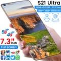 Global Version S21 Ultra 7.3 Inch Smartphones HD Full Screen Android 10 6800mAh 12+512GB 24+48MP Dual SIM Face ID Mobile Phone