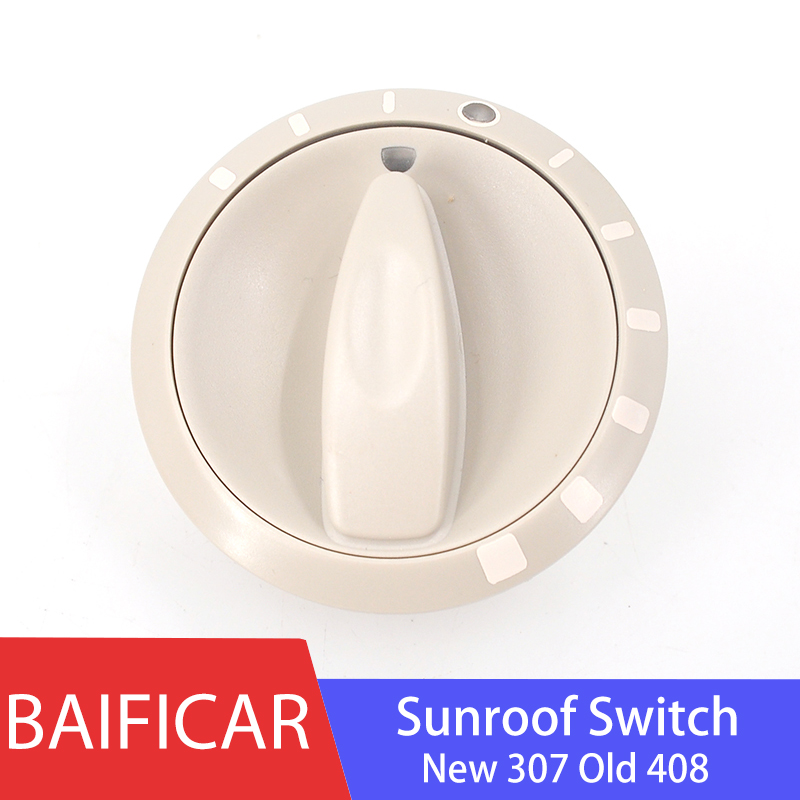 Baificar Brand New Genuine Sunroof Gear Control Switch Sunroof Adjustment Button 6557J8 96431719BJ For New Peugeot 307 Old 408