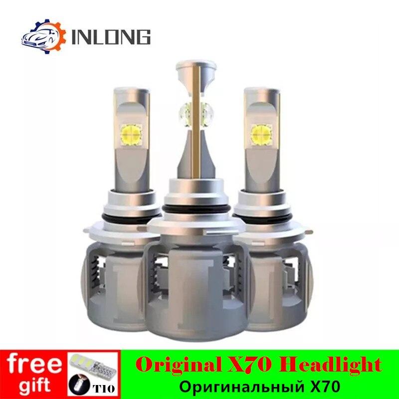 INLONG H7 H4 Car LED Headlight Bulbs H11 Led H1 9005 HB3 9006 HB4  D4S D2S D1S  D3S  X70 Chips 15600LM Headlamp Fog Lights 6000K-in Car Headlight Bulbs(LED) from Automobiles & Motorcycles