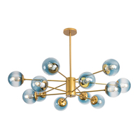 Nordic Modern Gold Lustre chandeliers 6 16 heads Retro Adjustable Edison Bulb Lamp E27 Art Spider Ceiling luminaire Fixture