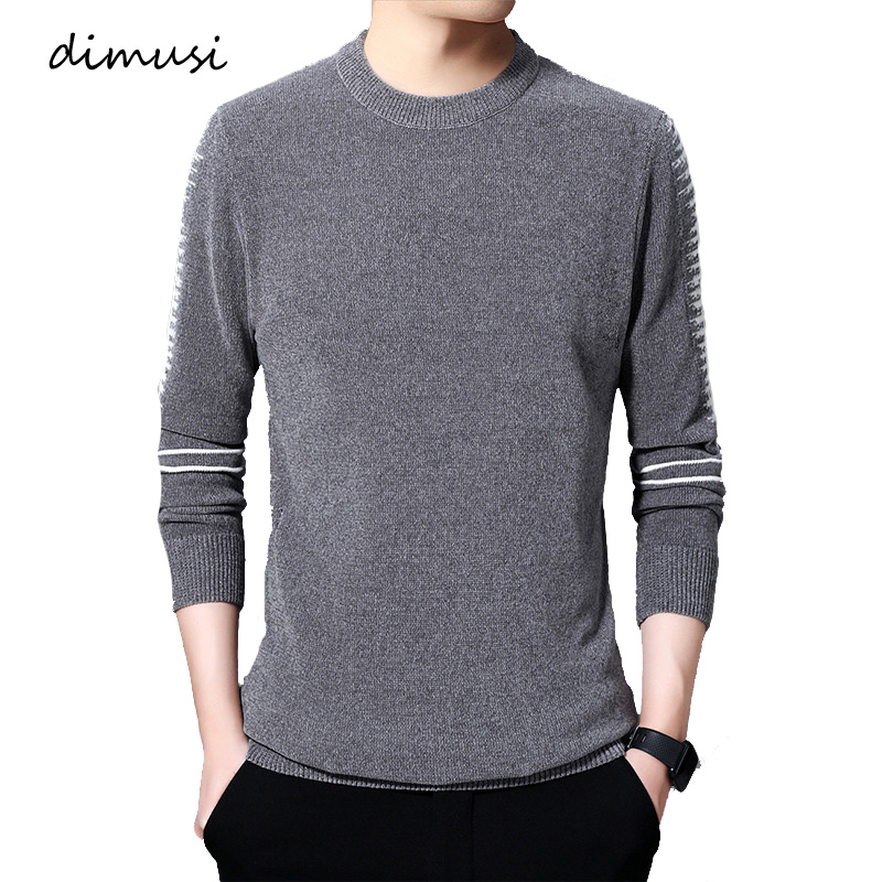 DIMUSI Winter Mens Sweaters Casual Men Solid Color Long Sleeve Pulll Turtleneck Sweaters Men Slim Fit Knitted Pullovers Clothing