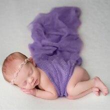 Accesorios de fotografía recién nacido accesorios de envoltura utilería para sesión fotográfica manta de estudio de bebé envoltorio elástico suave para envoltura de recién nacido