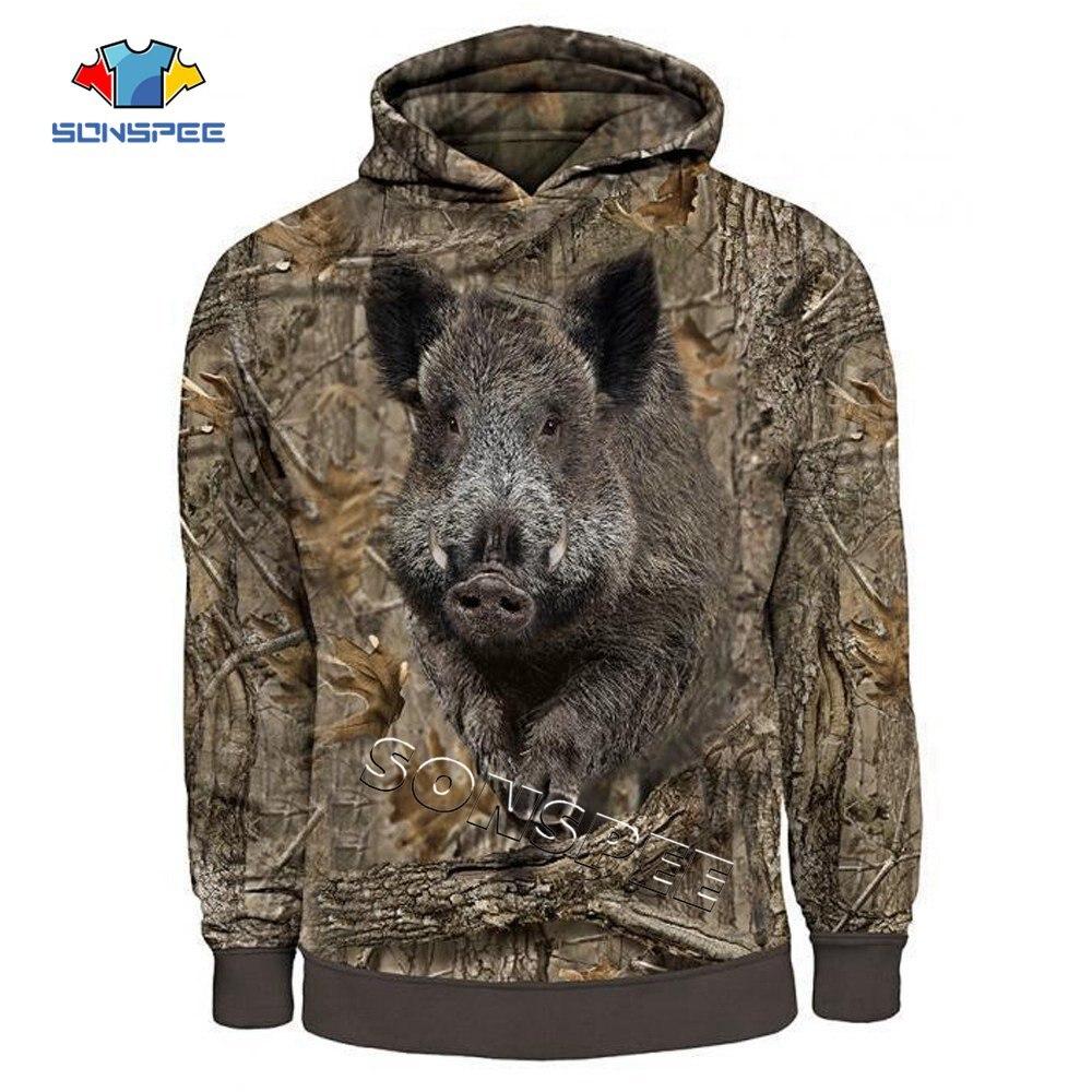 Wild Boar Hunting 3d Printed Unisex Hoodies Harajuku Fashion Men Casual Long Sleeve Hooded Sweatshirt Zip Hoodies Drop Shipping